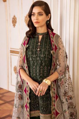 Bunch Pakistani Style Designer Embroided Georgette Deepsy Suits Set