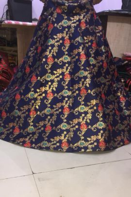 Bundle Of Festive Wear Silk Foil Printed Ethnic Ethnic Skirt Set