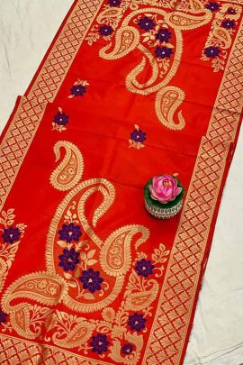 Collection Of Banarasi Silk Weaved Dupatta With Jacquard Work By Maithili Creation