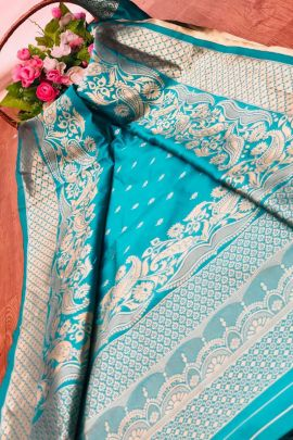 Collection Of Banarsi Silk Weaved Saree With Rich Pallu By London Beauty