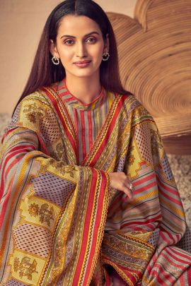 Collection Of Casual Wear Pure Wool Pashmina Digital Printed Suit By Alok Suit