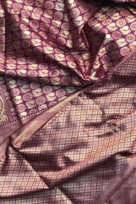 Collection Of Casual Wear Weaved Silk Saree By London Beauty