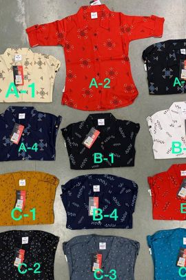 Collection Of Daily Wear Printed Rayon Kruti Garments Girls Tops