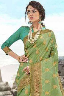 Collection Of Designer Party Wear Silk Weaved Saree By Shakunt