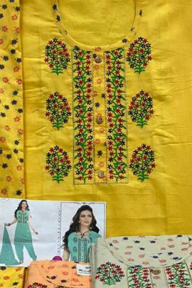 Collection Of Embroidery Printed Patch Work Cambric Lawn Cotton Suit By K Anuj
