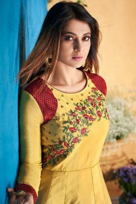 Collection Of Festival Wear Georgette Anarkali Suit With Handwork By Arihant NX