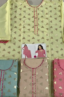 Collection Of Festive Wear Jam Silk Suit By K Anuj