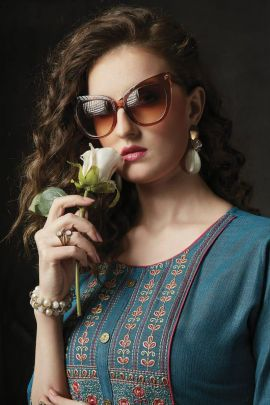 Collection Of Frock Style Embroidered Pleated Kurti By Kanasu