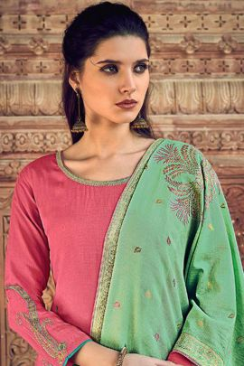 Collection Of Muslin Silk Designer Embroidery Suit By Ibiza