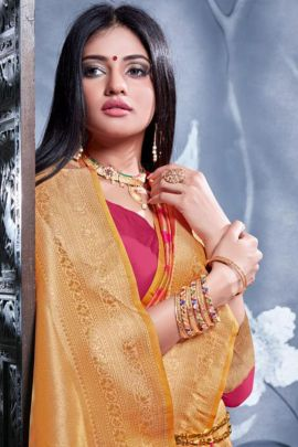 Collection Of Ocassion Wear Banarasi Silk Weaved Saree By Vellora
