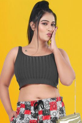 Collection Of Printed Cotton Hosiery Capri By Kavya Style Plus