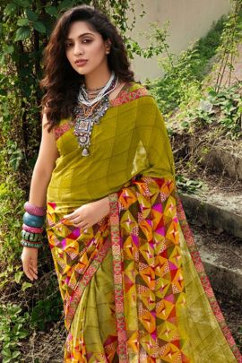 Collection Of Printed Georgette Daily Wear Saree By Vallabhi Prints