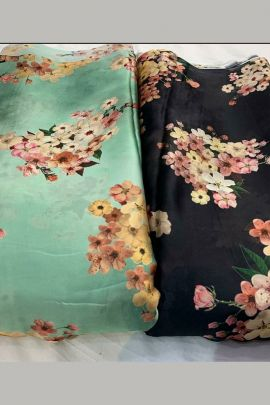 Collection Of Printed Satin Georgette Deepika Creation Fabrics