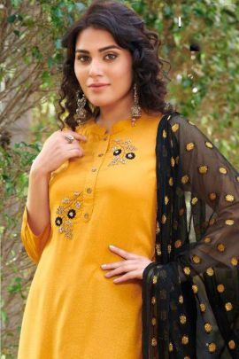 Collection Of Rayon Handwork Kurtis With Pant And Dupatta By Global Local