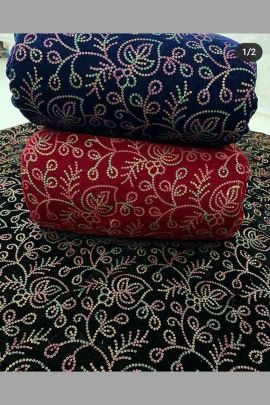 Collection Of Velvet Embroidered Fabric By Khushali Plus