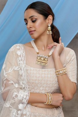 Collection Of Wedding Wear Embroidery Work Georgette Lengha Choli By Khusbhu Fashion
