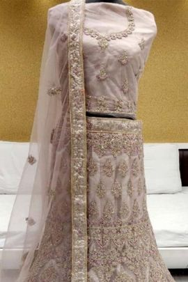 Pack Of Bridesmaid Wear Net Embroidered Lehenga Choli Collection