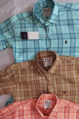 Pack Of Casual Wear Checks Printed Cotton Amit Garment Mens Shirts Bunch