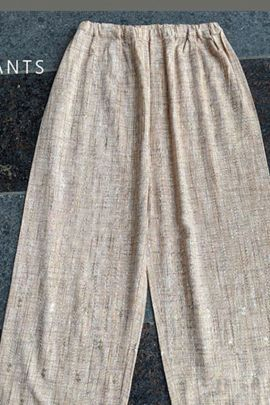 Pack Of Casual Wear Lightly Embroidery Work Khadi Mesmora Pants Bunch