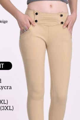 Pack Of Casual Wear Plain Imported Lycra Hi Fashion Pant Bunch