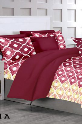 Pack Of Cotton Printed Bed Sheet With Pillow Cover