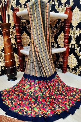 Pack Of Daily Casual Wear Printed Fancy Fabric Saree And Blouse Piece
