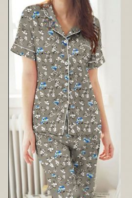 Pack Of Daily Night Wear Printed Rayon Hi Fashion Night Suit Bunch
