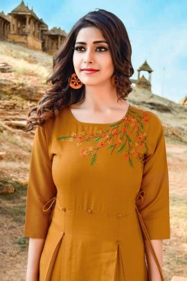 Pack Of Daily Regular Wear Cotton Embroidery Kurti With Pant Set