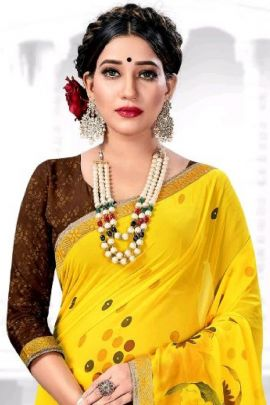 Pack Of Daily Regular Wear Printed Georgette Himpriya Fashion Collection