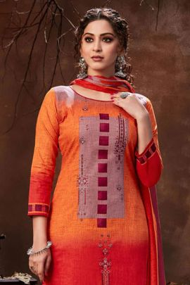 Pack Of Daily Wear Cotton Lawn Printed Salwar Suit With Dupatta Bunch