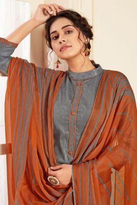 Pack Of Daily Wear Printed Jacquard Alok Patiyala Salwar Suit With Dupatta Set
