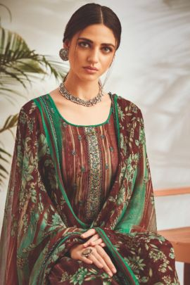 Pack Of Ethnic Event Wear Embroidery Rayon Plazzo Bottom Salwar Suit