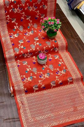 Pack Of Fancy Banarasi Silk Weaved Maithili Creation Dupatta Bunch