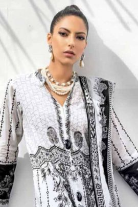 Pack Of Festive Wear Embroidered Cotton Pakistani Salwar Suit With Dupatta Bunch