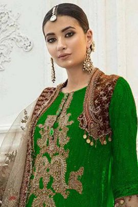 Pack Of Festive Wear Embroidered Georgette Pakistani Salwar Suit With Dupatta
