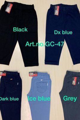 Pack Of Regular Daily Wear Plain Denim Girls Capri