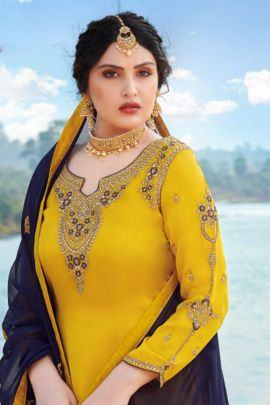 Set Of 4 Full Embroidered Indo Western Festive Wear By Your Choice