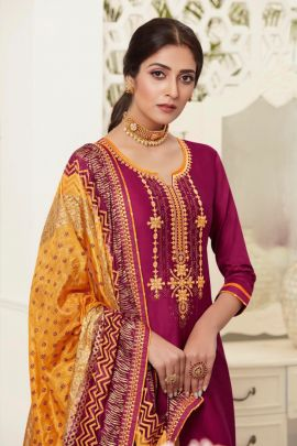 Set Of 8 Event Wear Embroided Jam Silk Patiyala Salwar Suit With Dupatta