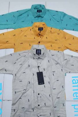 Set Of Daily Wear Printed Cotton Mens Shirts