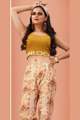 Set Of Printed Casual Wear Cotton Comfortable Pants By Tunic House