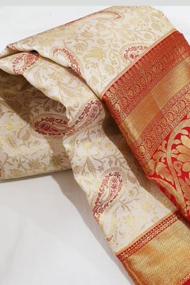 Set Of Wedding Wear Silk Weaved R Yuvaraj Saree With Blouse Piece