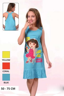 Sky-Blue-Dora-Print-Cotton-Little-Girls-Night-Wear-Paticoat-In-Wholesale-3558-6703.jpg