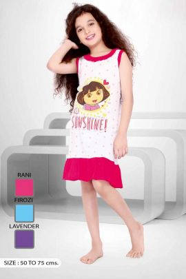 White-And-Pink-Dora-Cartoon-Print-Cotton-Girls-Night-Wear-Paticoat-In-Wholesale-3551-6696.jpg