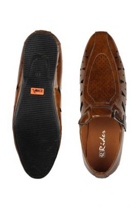 Wholesale Brown Event Wear Mens Leather Sandals Collection