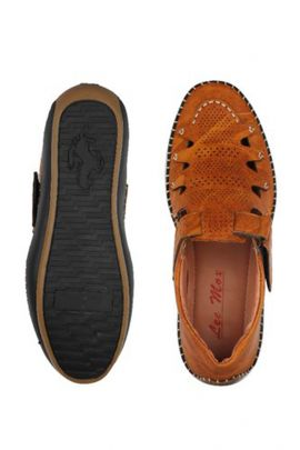 Wholesale Brown Party Wear Mens Leather Sandals Collection