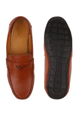 Wholesale Brown PVC Party Wear Mens Loafer Collection