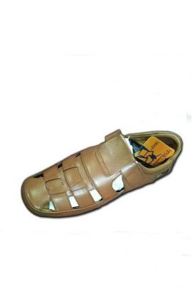 Wholesale Brown Synthetic Event Wear Mens Trendy Sandal Collection