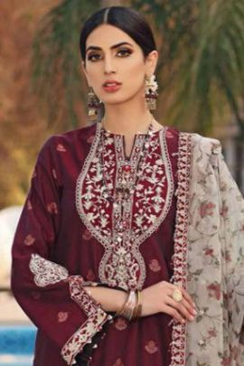 Wholesale Cambric Cotton With Heavy Embroidery Work Event Wear Pakistani Suit