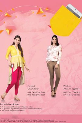 Wholesale Casual College Wear Plain Pocket Churidaar Leggings Collection