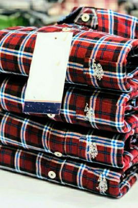 Wholesale Casual College Wear Printed Chex Mens Cotton Shirts Collection
